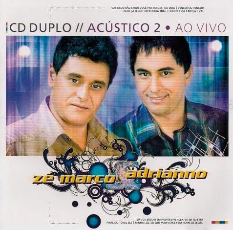 ze marco adriano cd duplo acustico 2 ao vivo